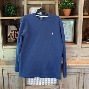 Polo Ralph Lauren long sleeve waffle knit SZ L